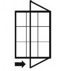 Vitrína, boční otevírání, 30mm